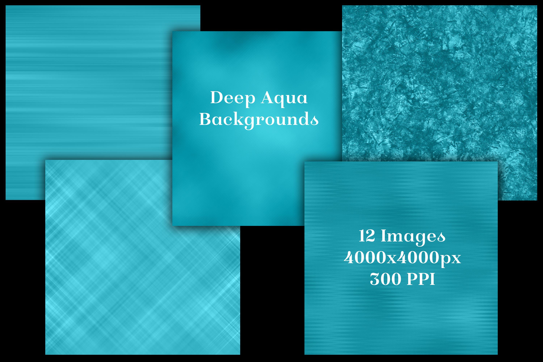 Deep Aqua Backgrounds - 12 Image Textures Set example image 2