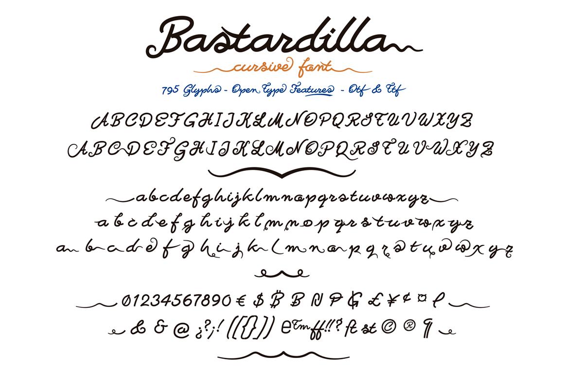 Bastardilla example image 2
