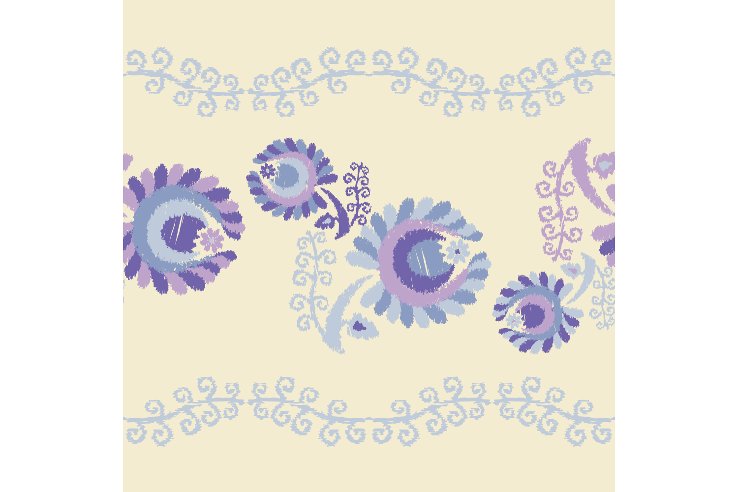 Decorative flowers. Set of 10 seamless patterns. example image 6