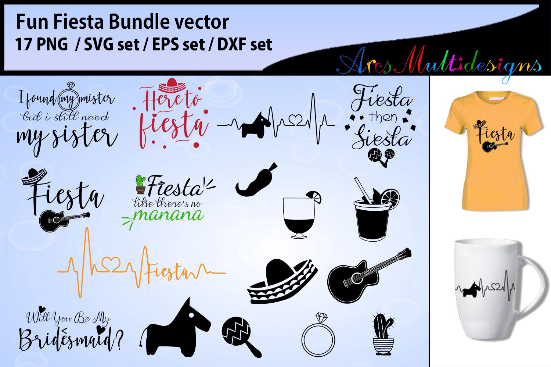 Fiesta Fun Bundle SVG DXF PNG and EPs / Fiesta bundle svg example image 1