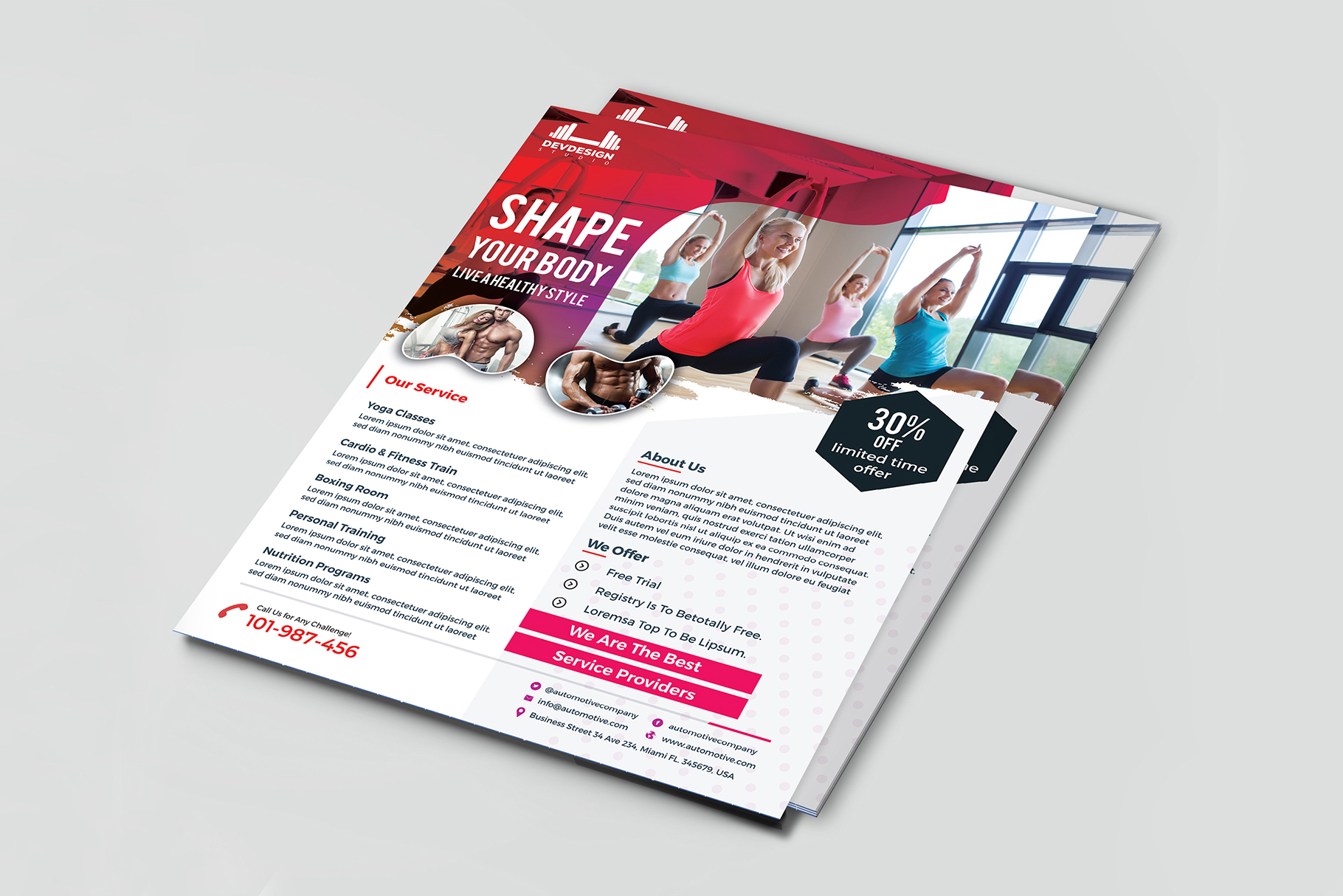 Modern GYM Flyer For GYM Business example image 4