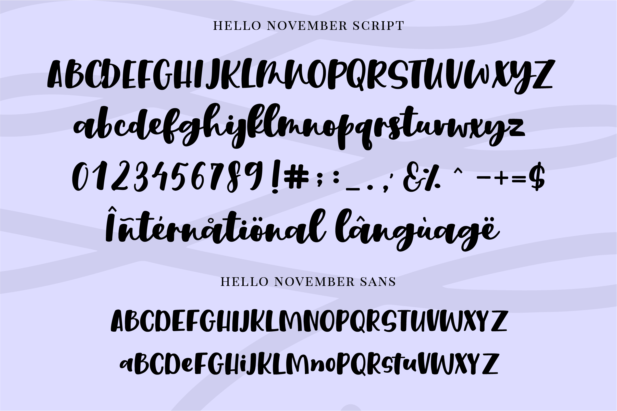 Hello November | Script and Sans font duo example image 8