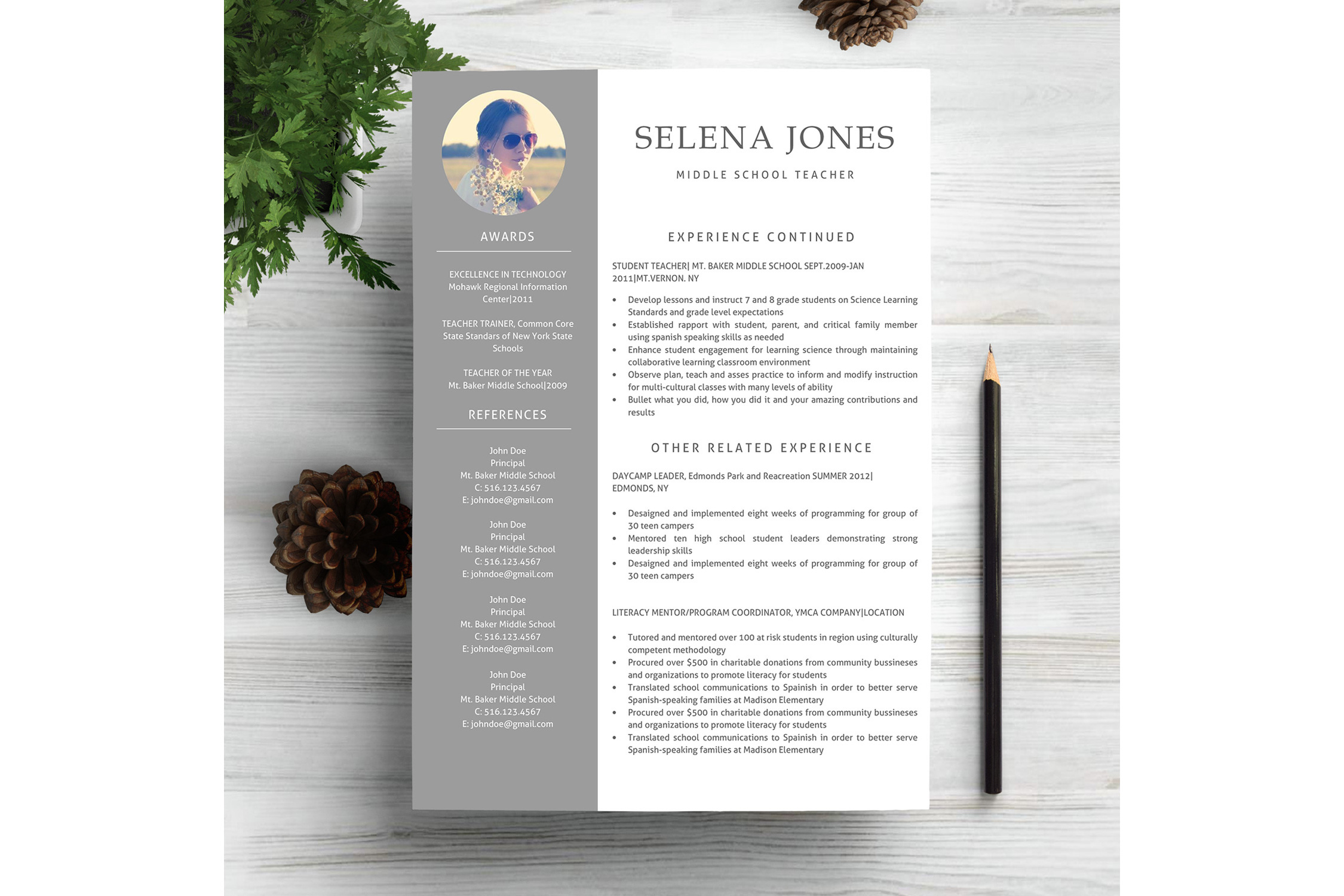 Resume Template CV Word example image 3