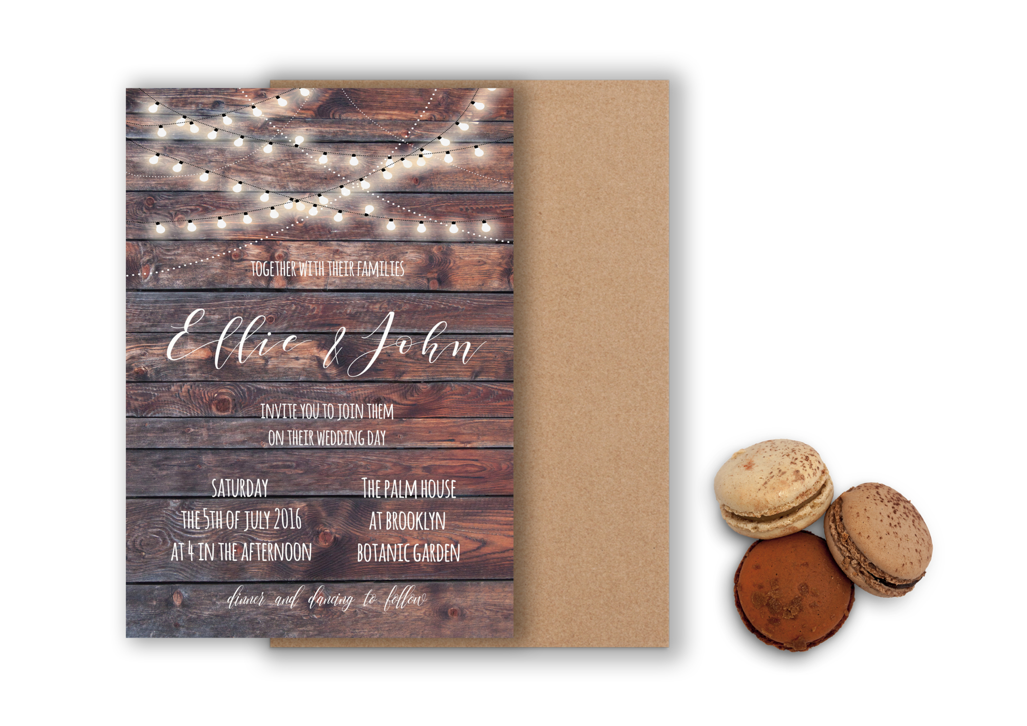 Rustic wedding invitation example image 1