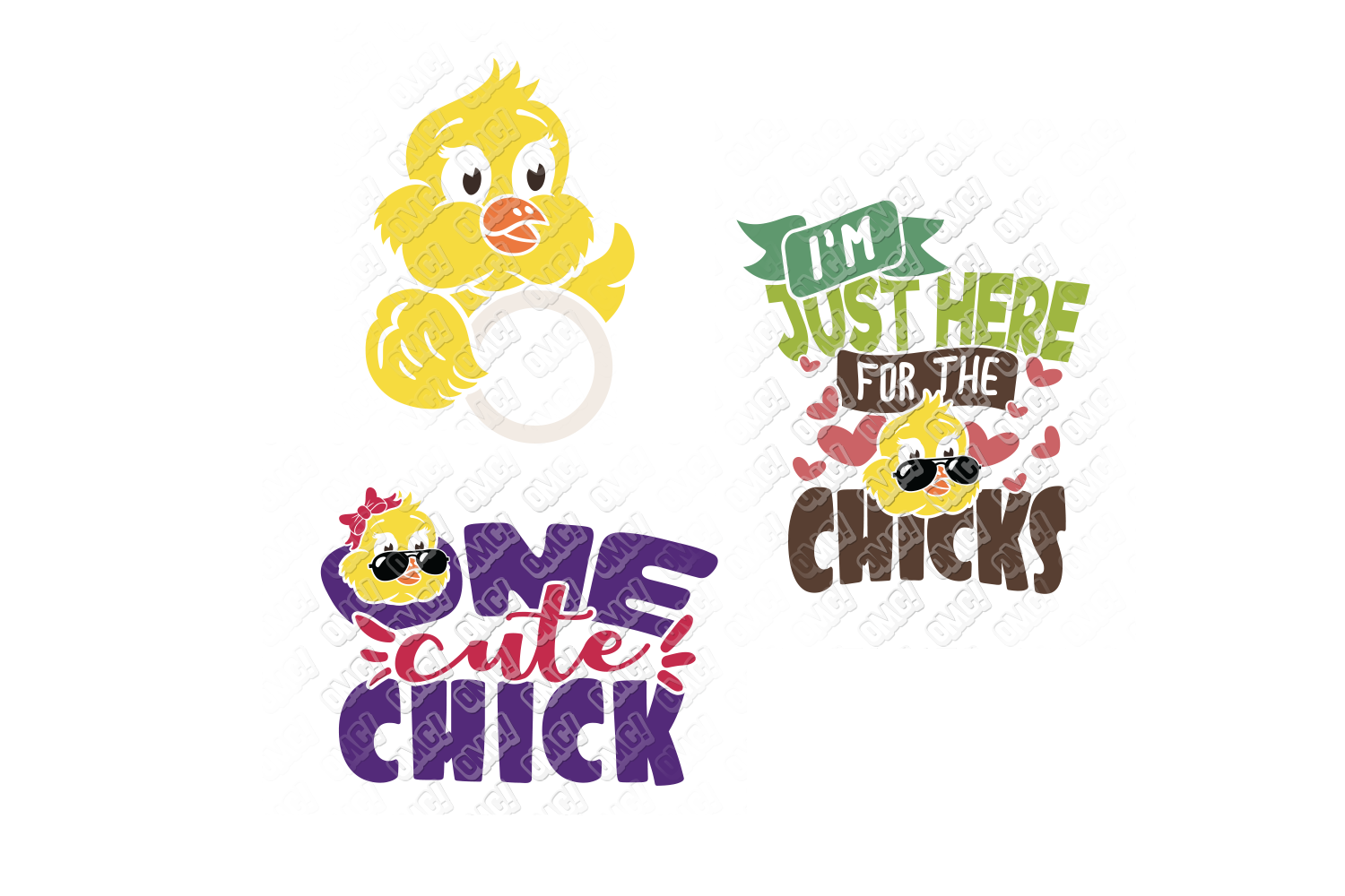 Easter Chick SVG Monogram Quotes in SVG, DXF, PNG, EPS, JPEG example image 4