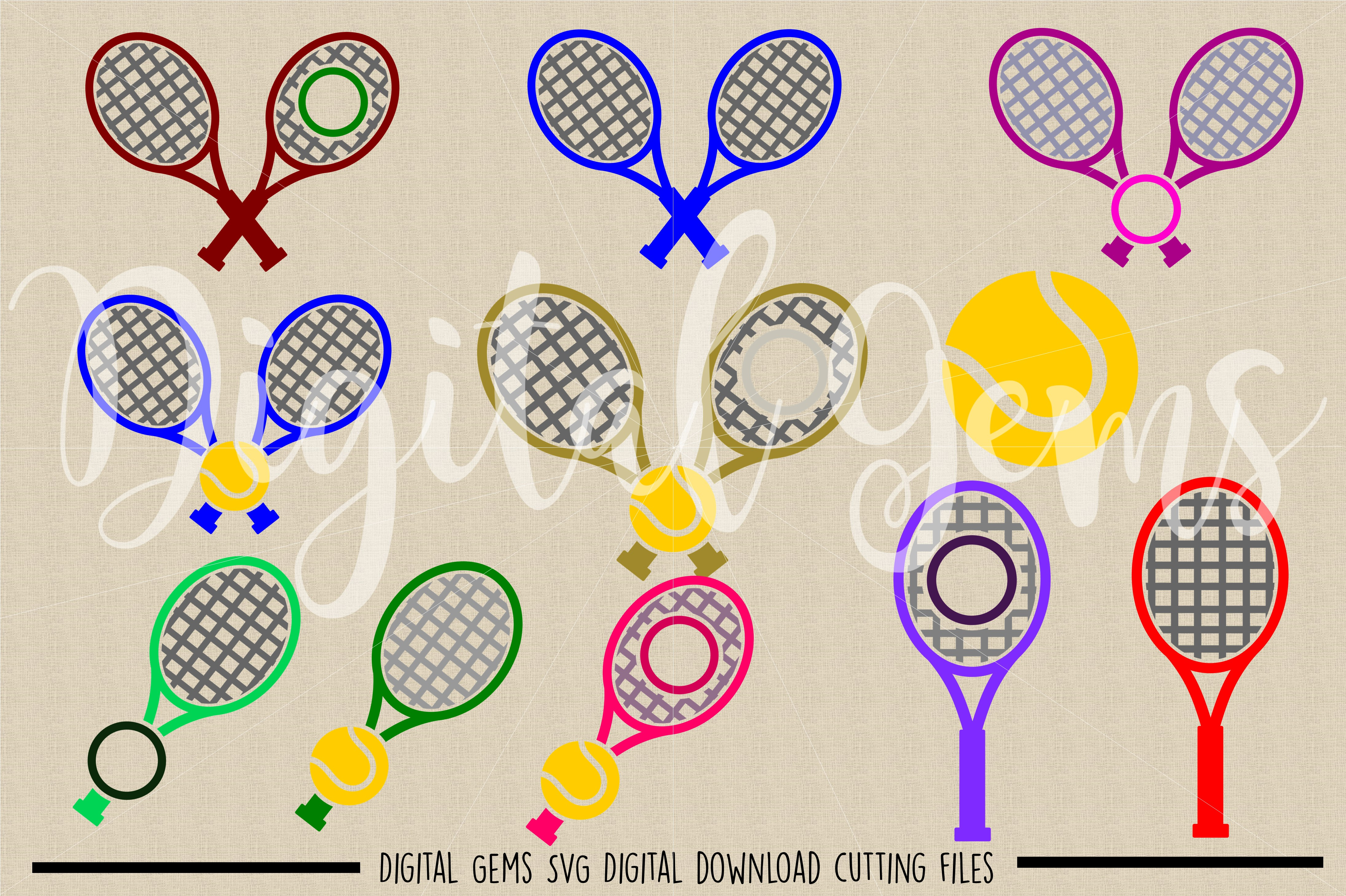 Tennis SVG / PNG / EPS / DXF files example image 2