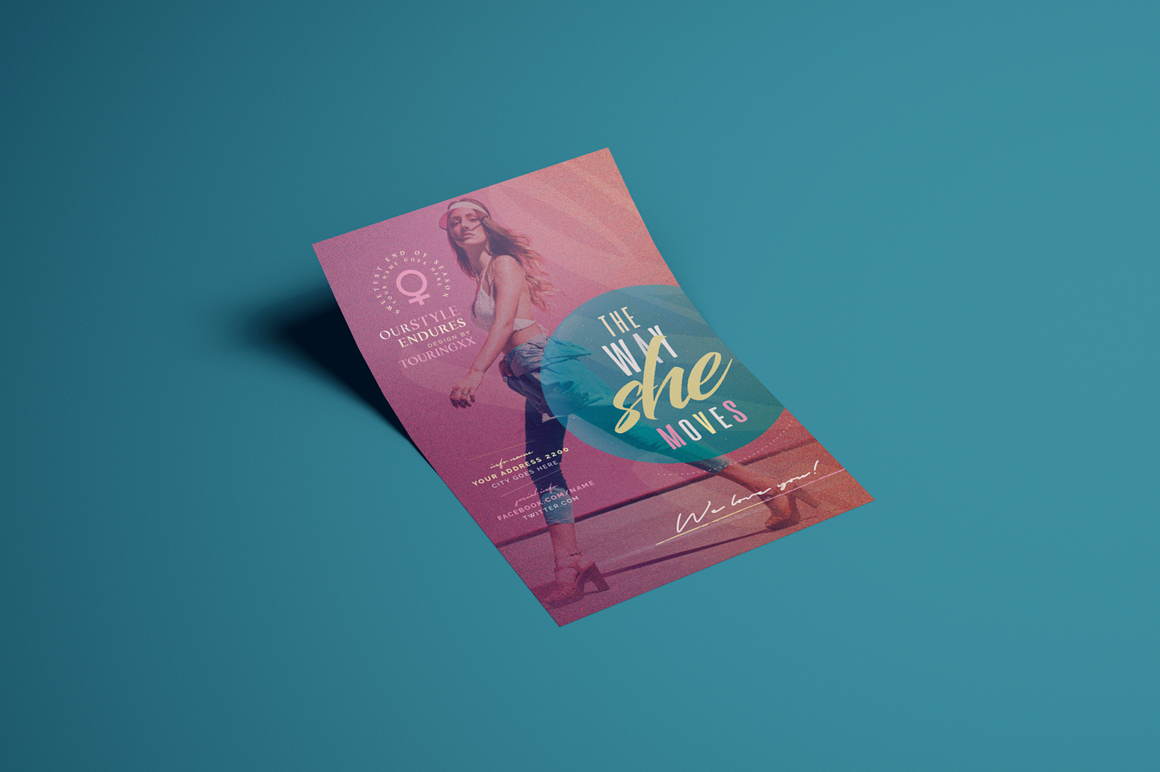 The Way She Moves Flyer Template example image 2