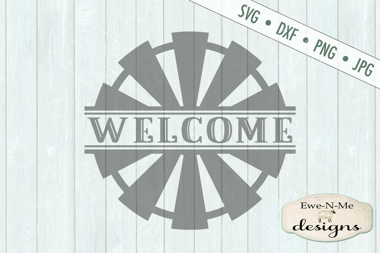 Split Windmill Welcome - Farm Rustic - SVG DXF Files example image 2