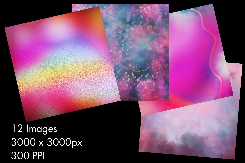 Unicorn Colours Backgrounds - 12 Image Set example image 2
