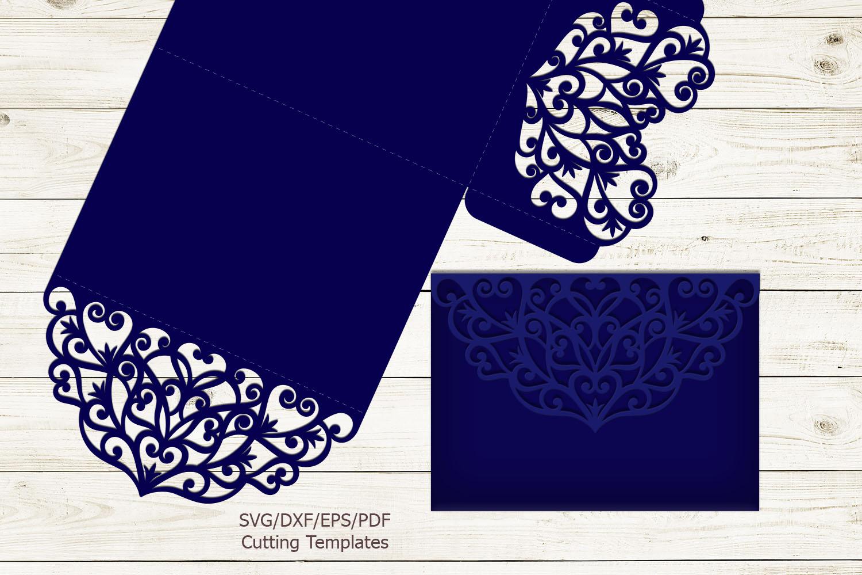 Trifold wedding invitation svg dxf pdf laser cut cricut file example image 4