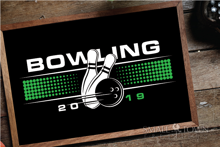 Bowling, Bowling ball, Team logo, sport, PRINT, CUT & DESIGN example image 3