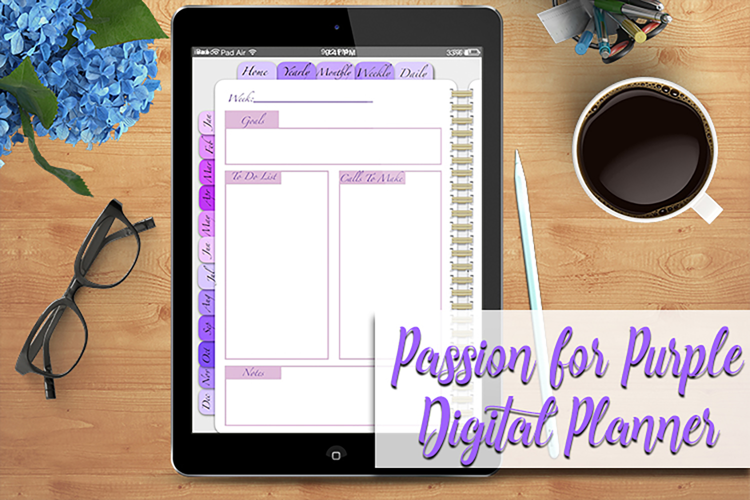 Digital Planner A Passion For Purple example image 6
