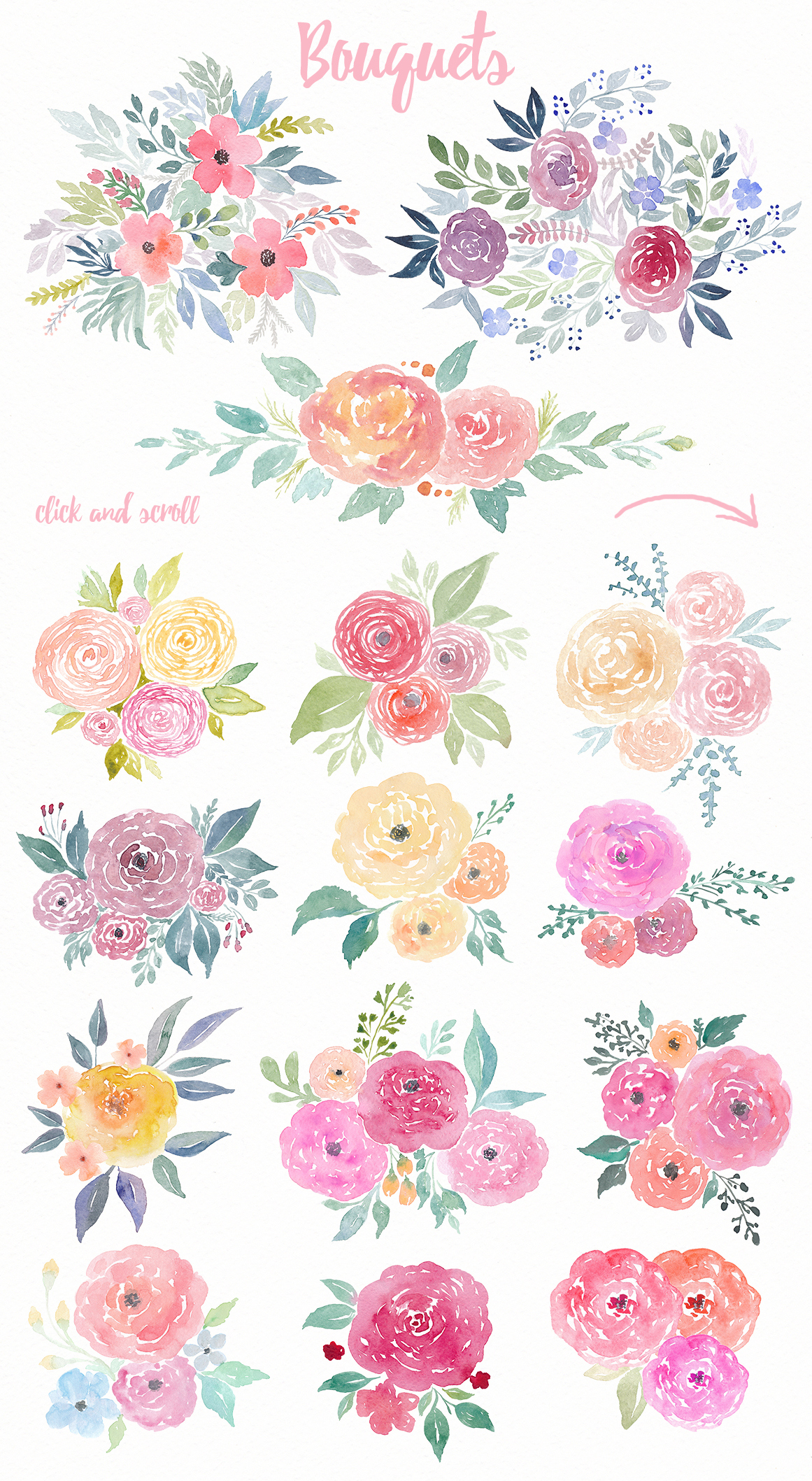 Watercolor Floral Pack example image 2