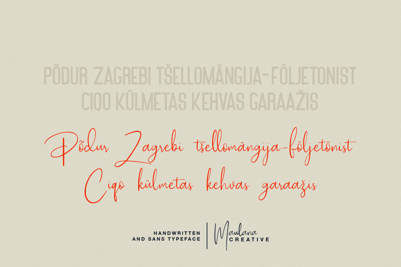 Poliesster - Font Duo Script Sans example image 8
