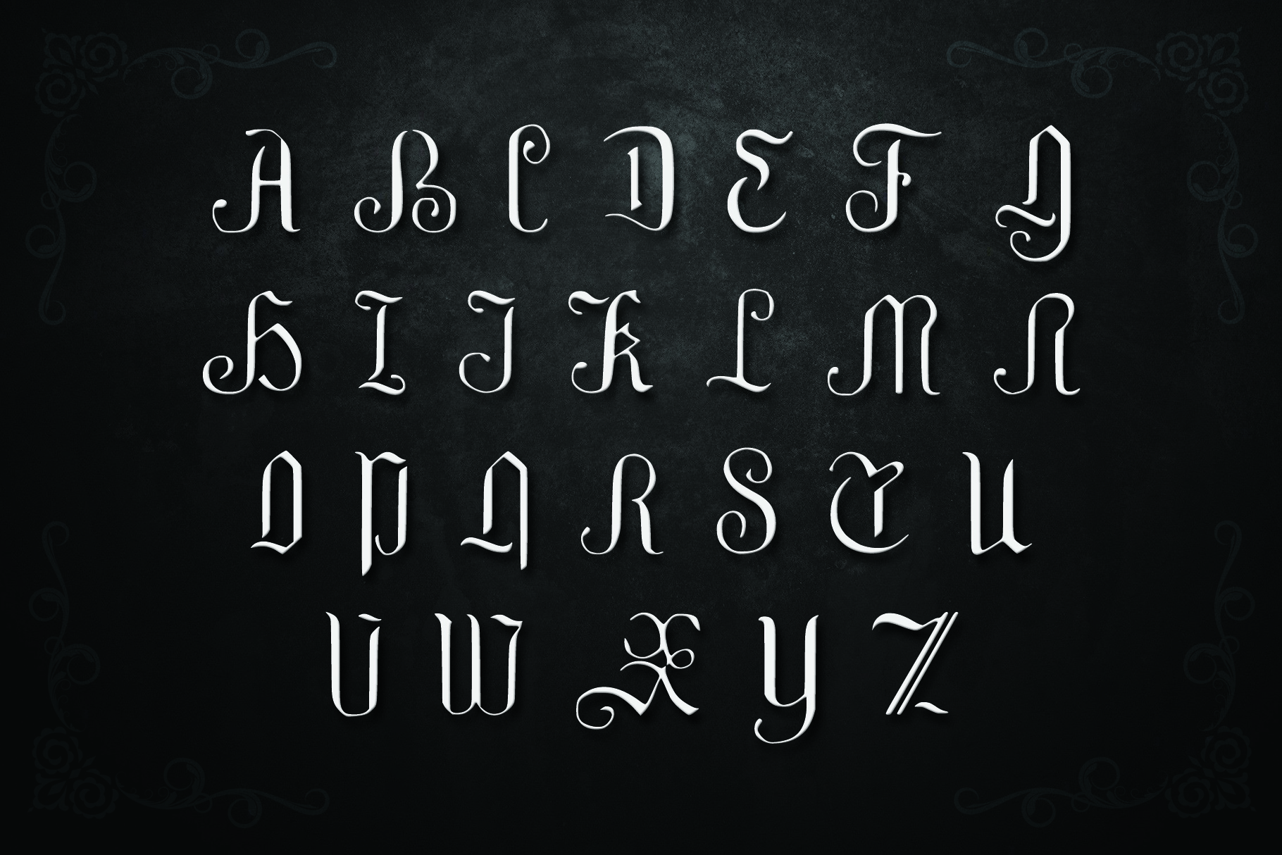 GRIFFIN, a Blackletter Typeface example image 3