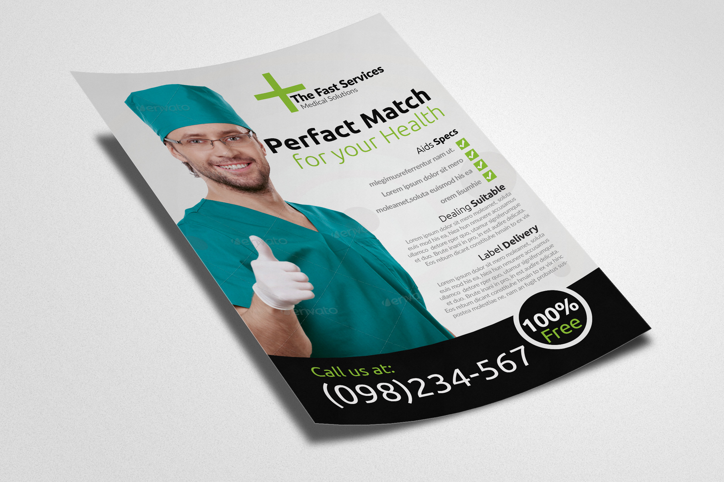 Health & Medical Doctors Flyer example image 2