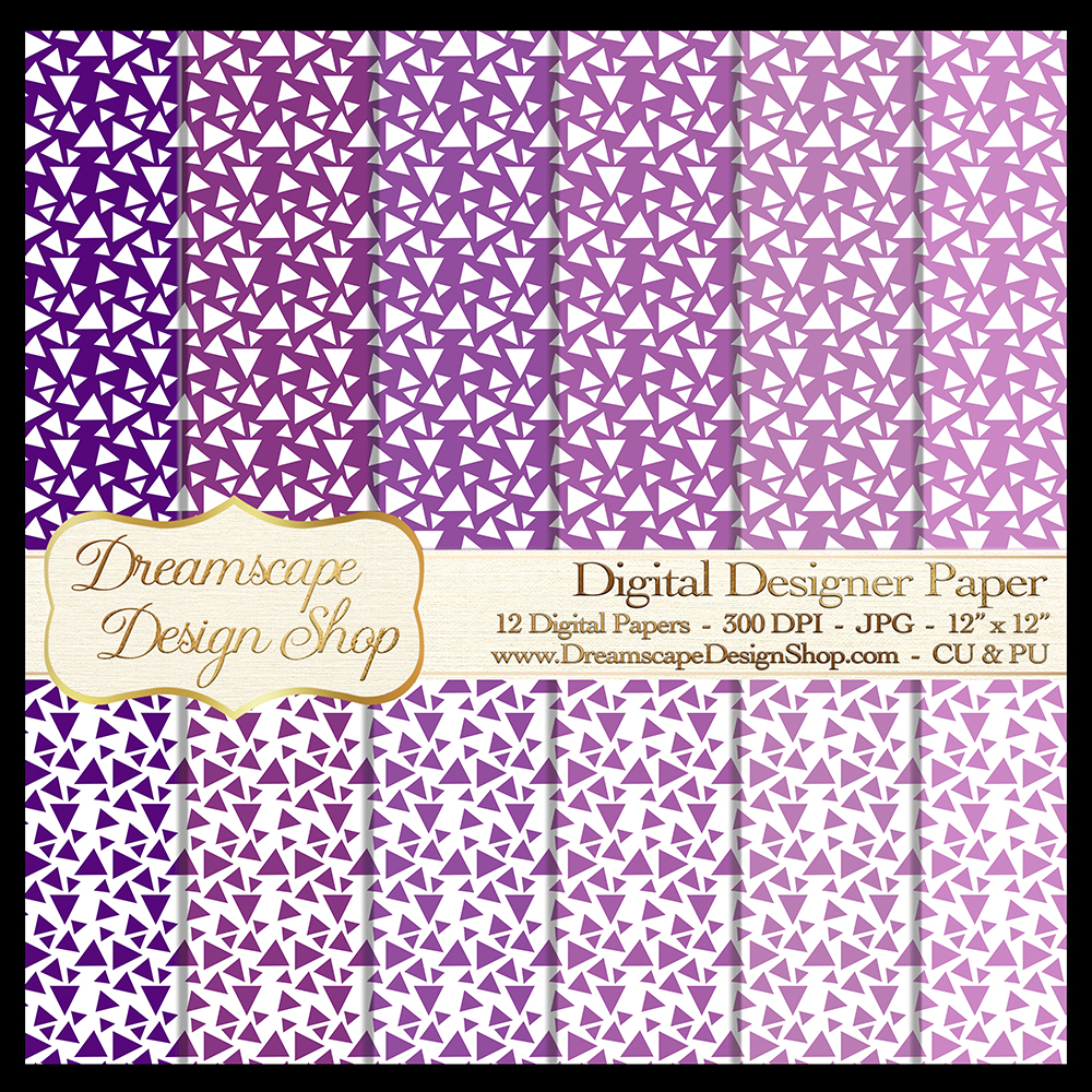 Digital Papers - Purple and White (Set 4) - 12 jpg Images at 300 DPI - Digital Product Instant Download example image 1