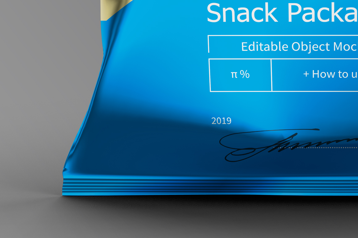 Metallic Plastic Snack Package Mockup example image 7