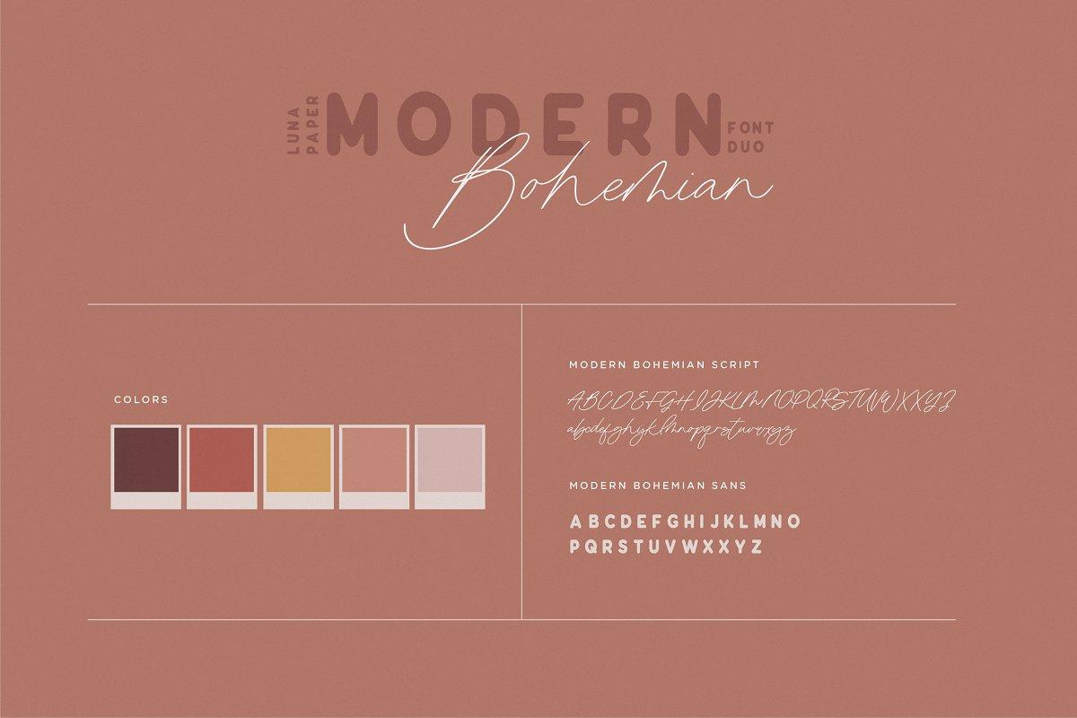 Modern Bohemian Font Duo example image 4