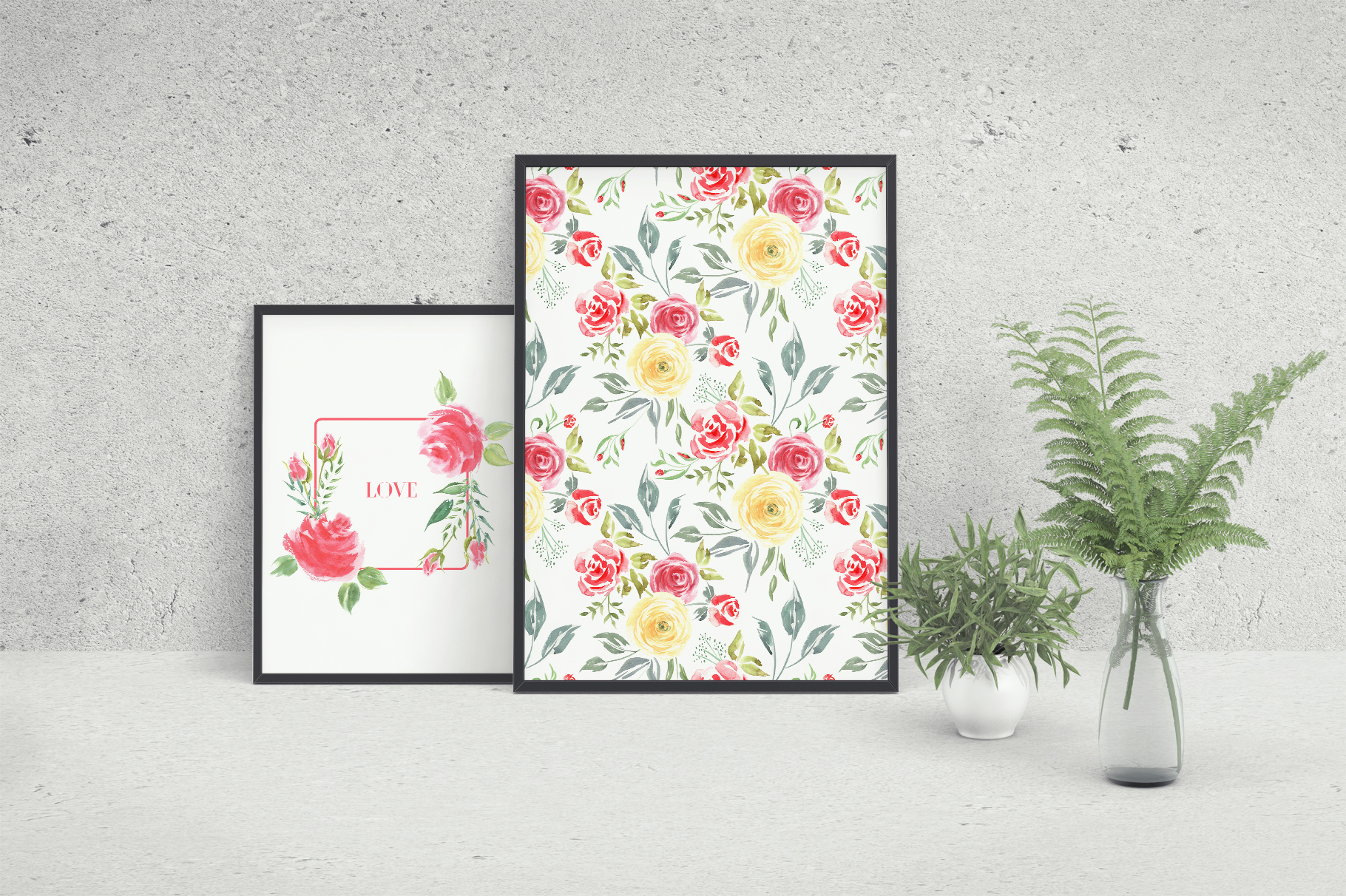 Queen of Flowers watercolor collection example image 9