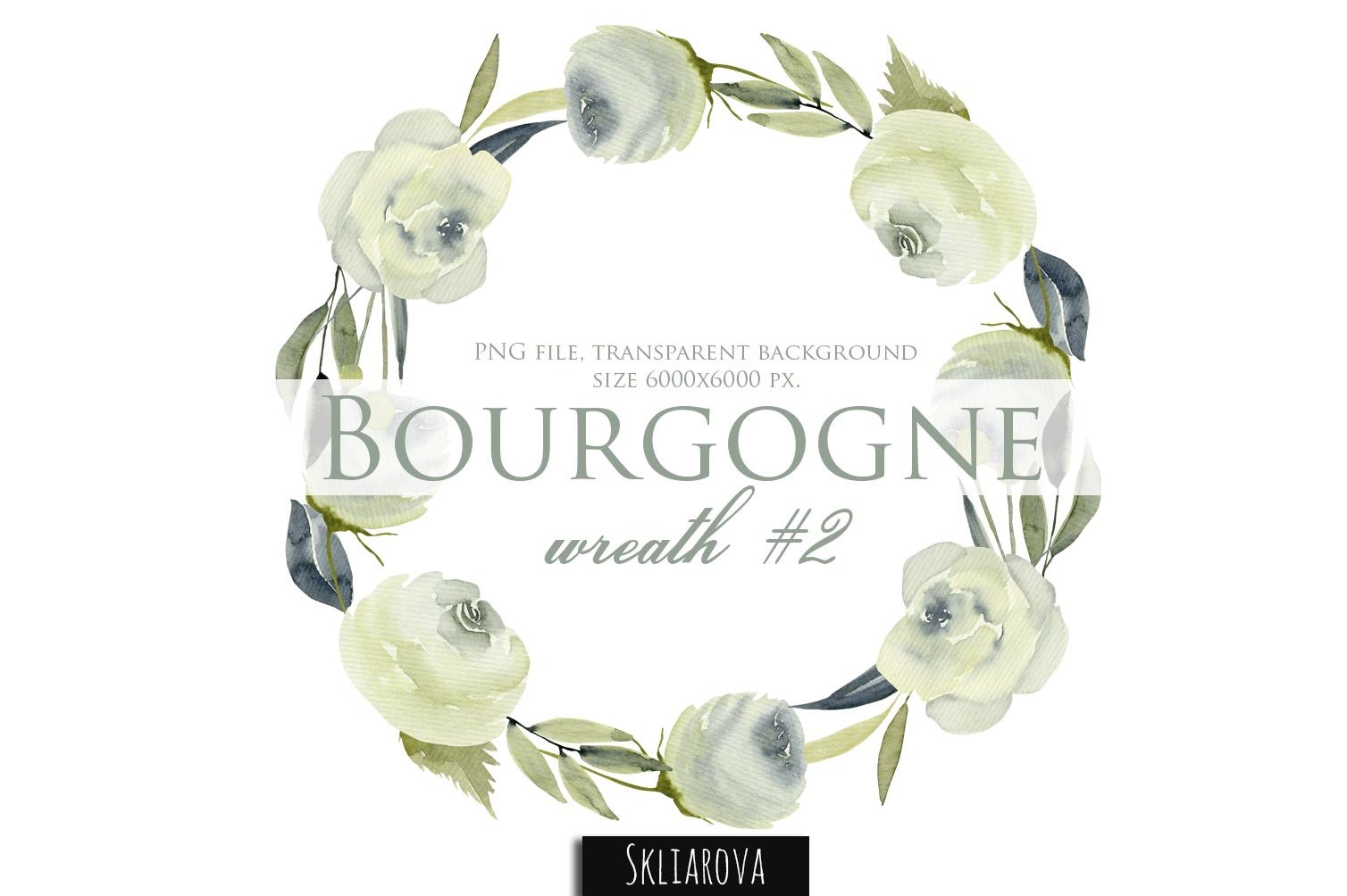 Bourgogne. Wreath #2 example image 1