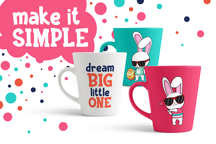Funkie Bunny - SVG, EPS, DXF, PNG, example image 7