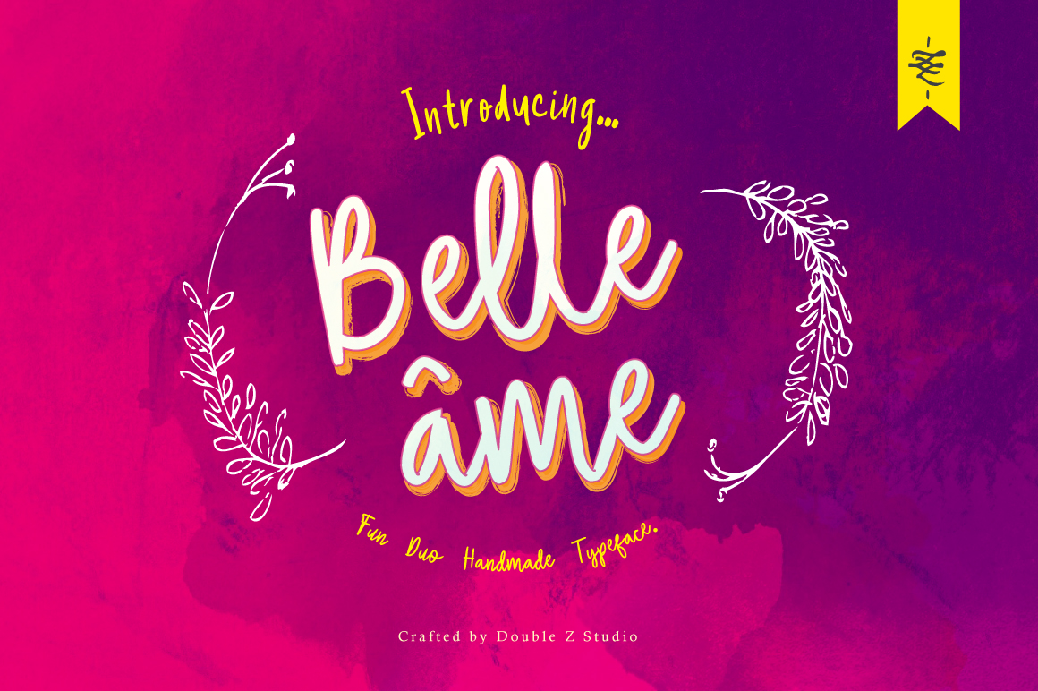 Belle âme - Font Duo example image 13