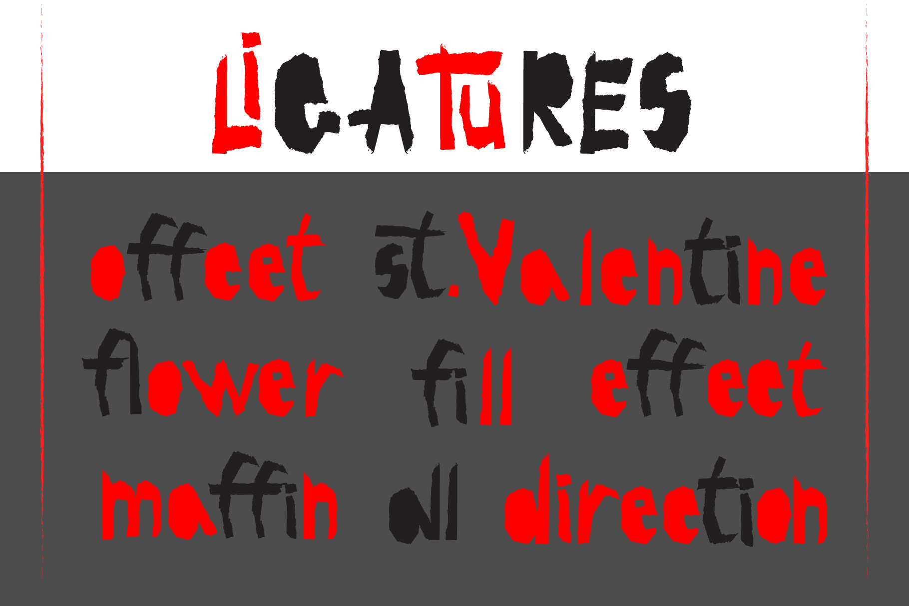 Red-and- Black OTF font example image 4