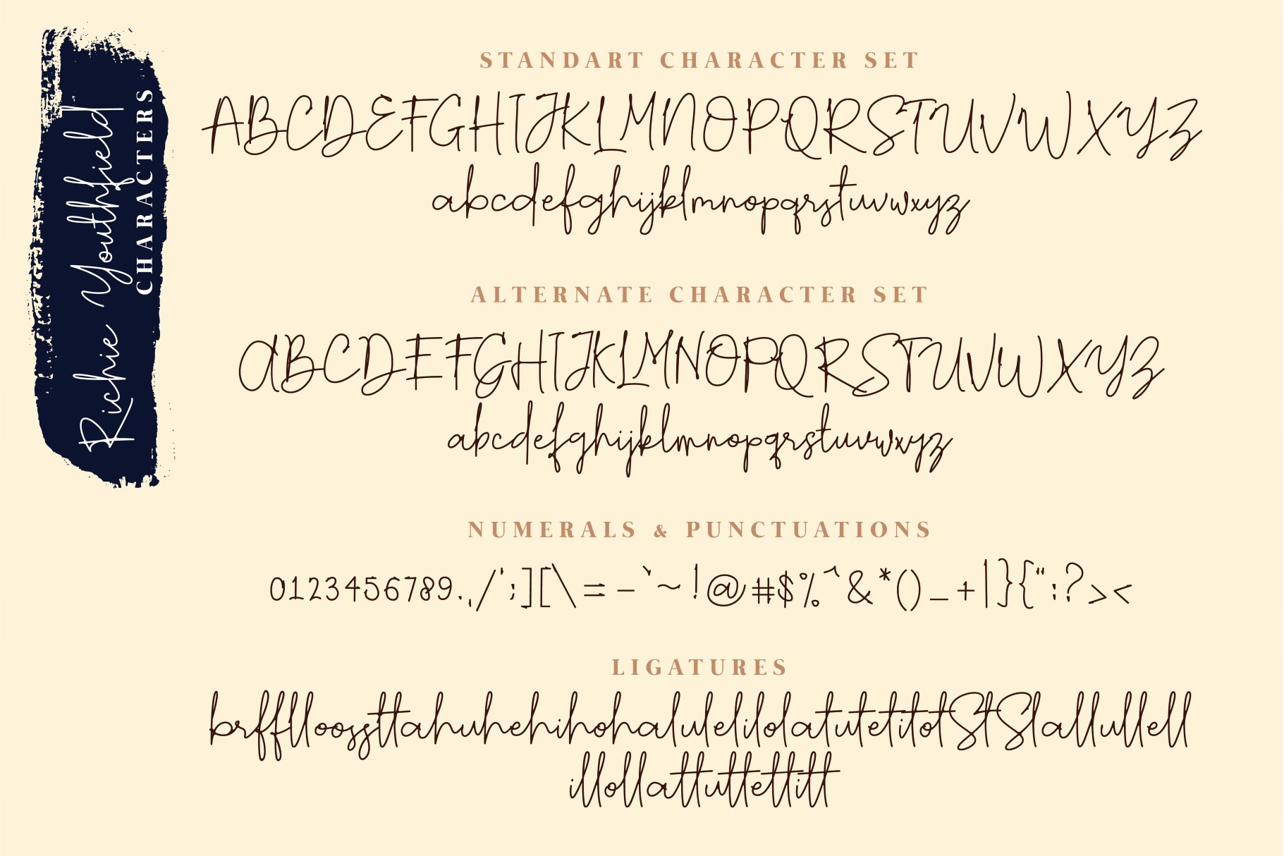 Richie Youthfield - Signature Font example image 8