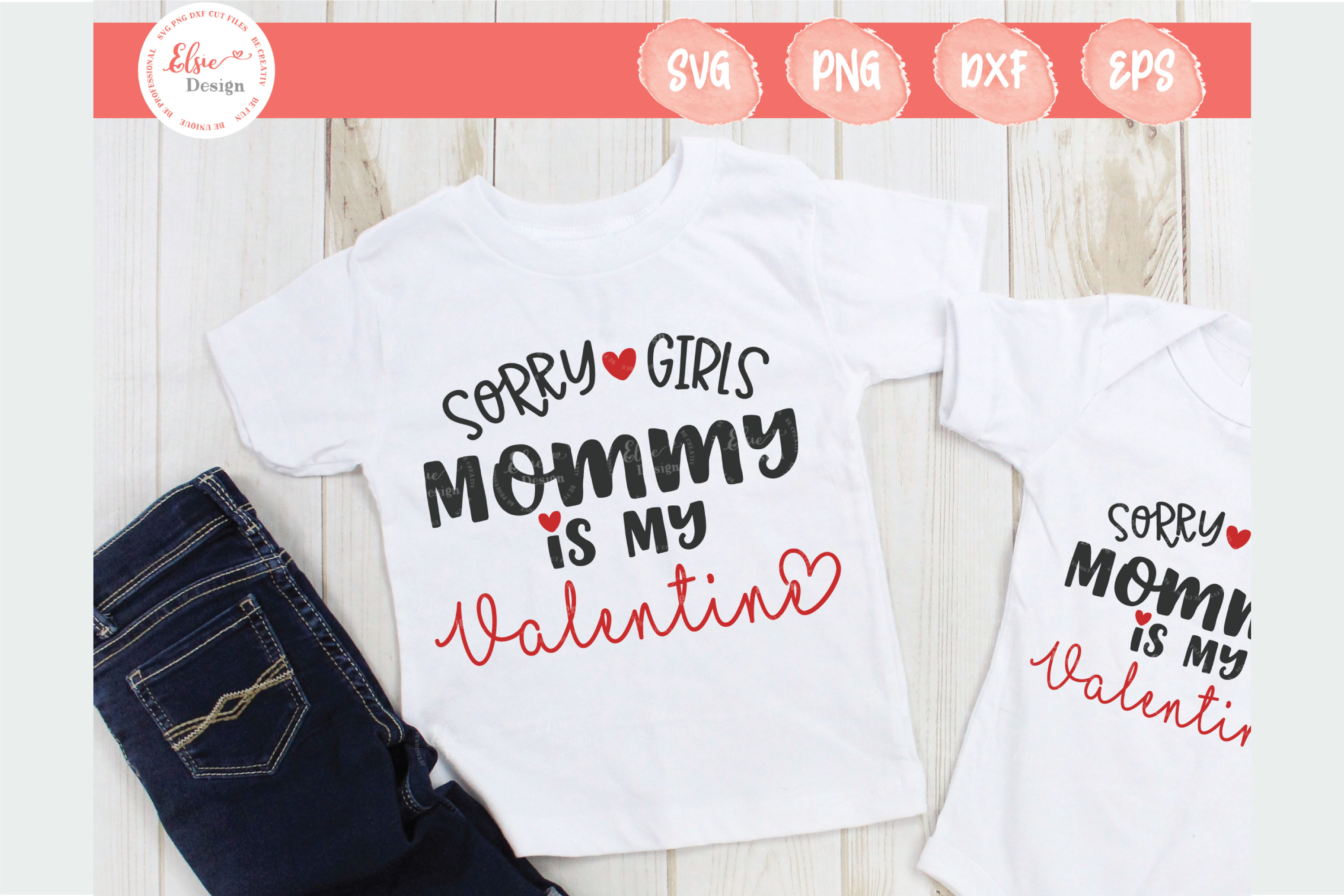 Sorry Girls Mommy Is My Valentine SVG Cut Files example image 1