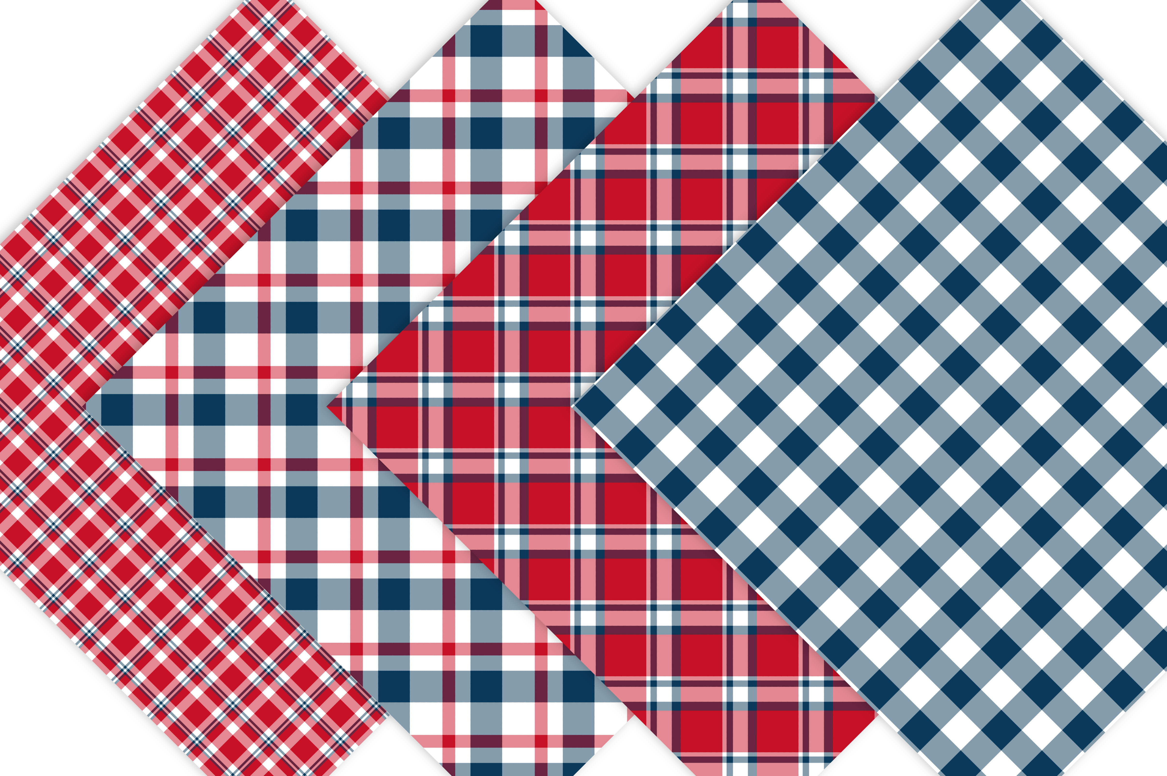 Red White and Blue Plaid Patterns example image 4