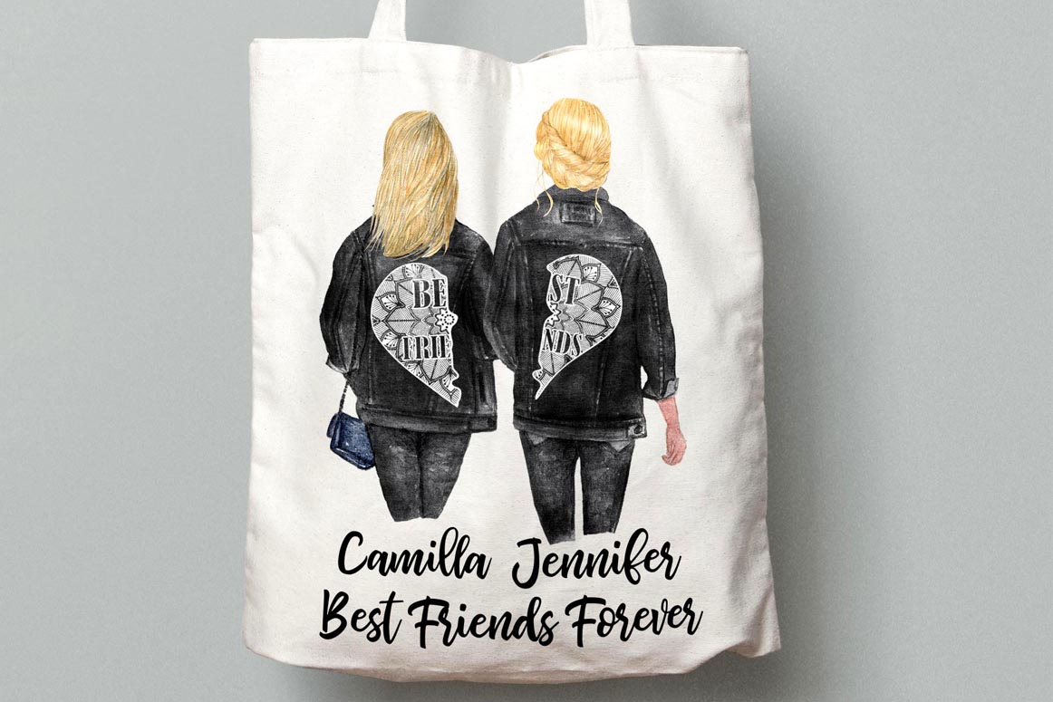 Best Friends Clipart,SOUL SISTERS CLIPART, Bff clipart, example image 8