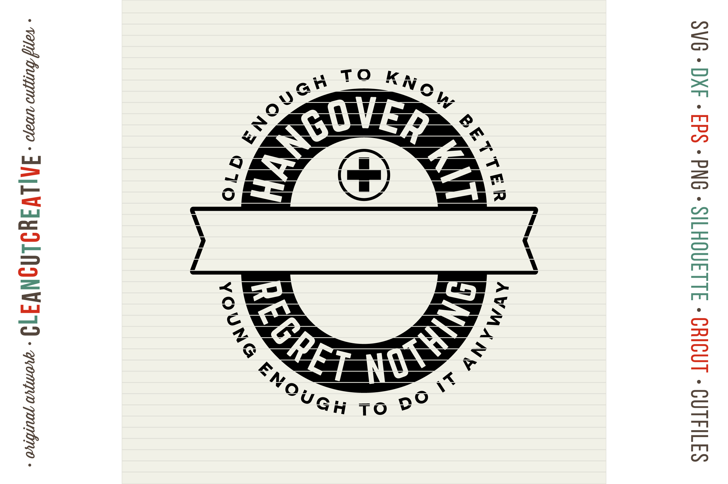 Birthday Hangover Kit | Personalized 30 40 50 Birthday SVG example image 3