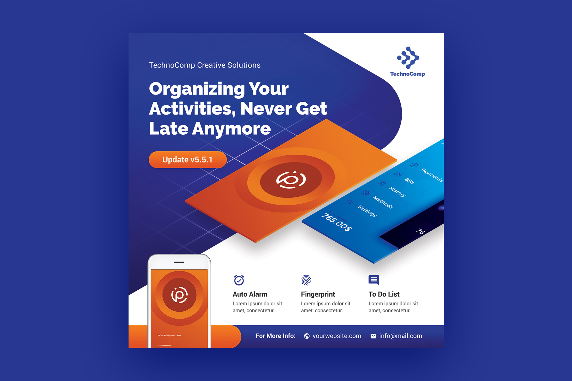 Mobile App Promotion Flyer Template example image 5