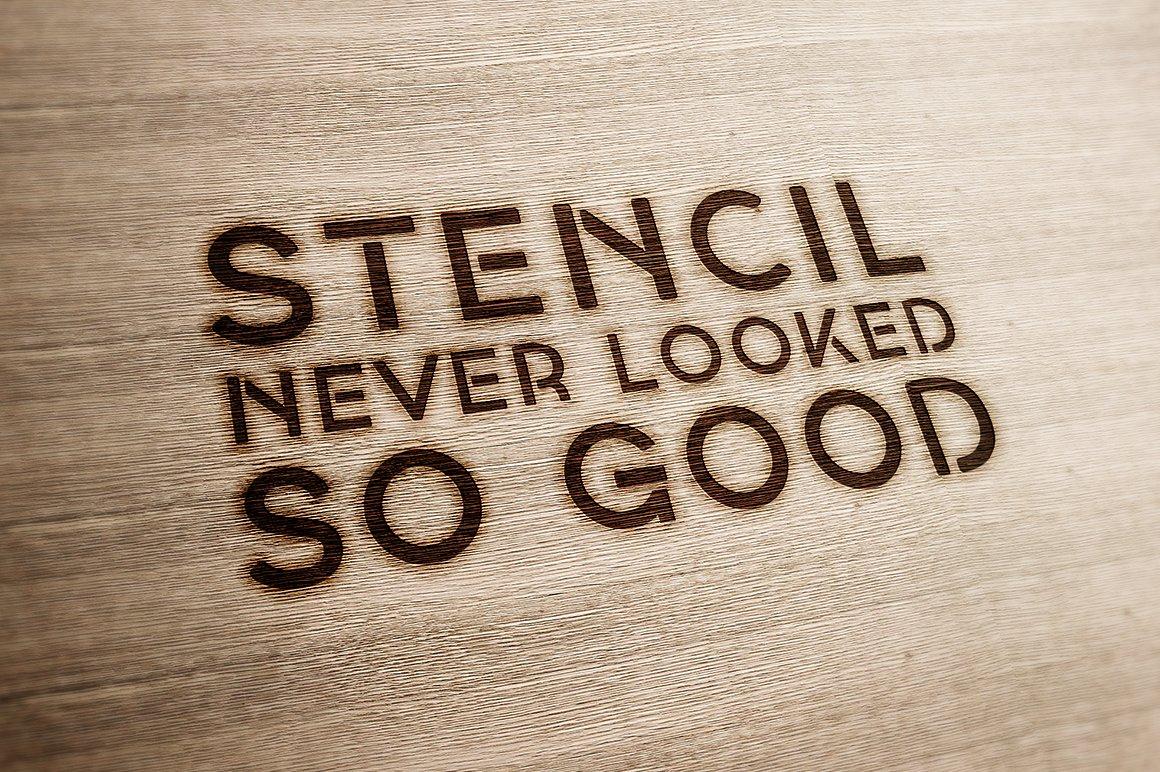 Georgina - A Stencil Hybrid font example image 7