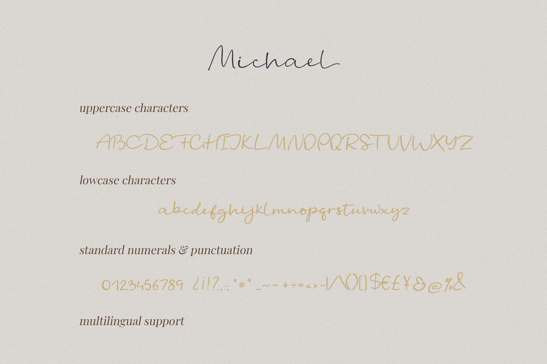 Michael - a casual handwritten script example image 2