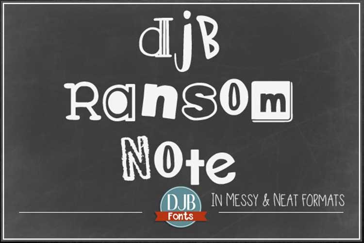 DJB Ransomed Font Bundle example image 2