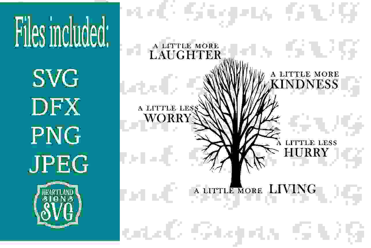 A Little More Living SVG Inspirational example image 1