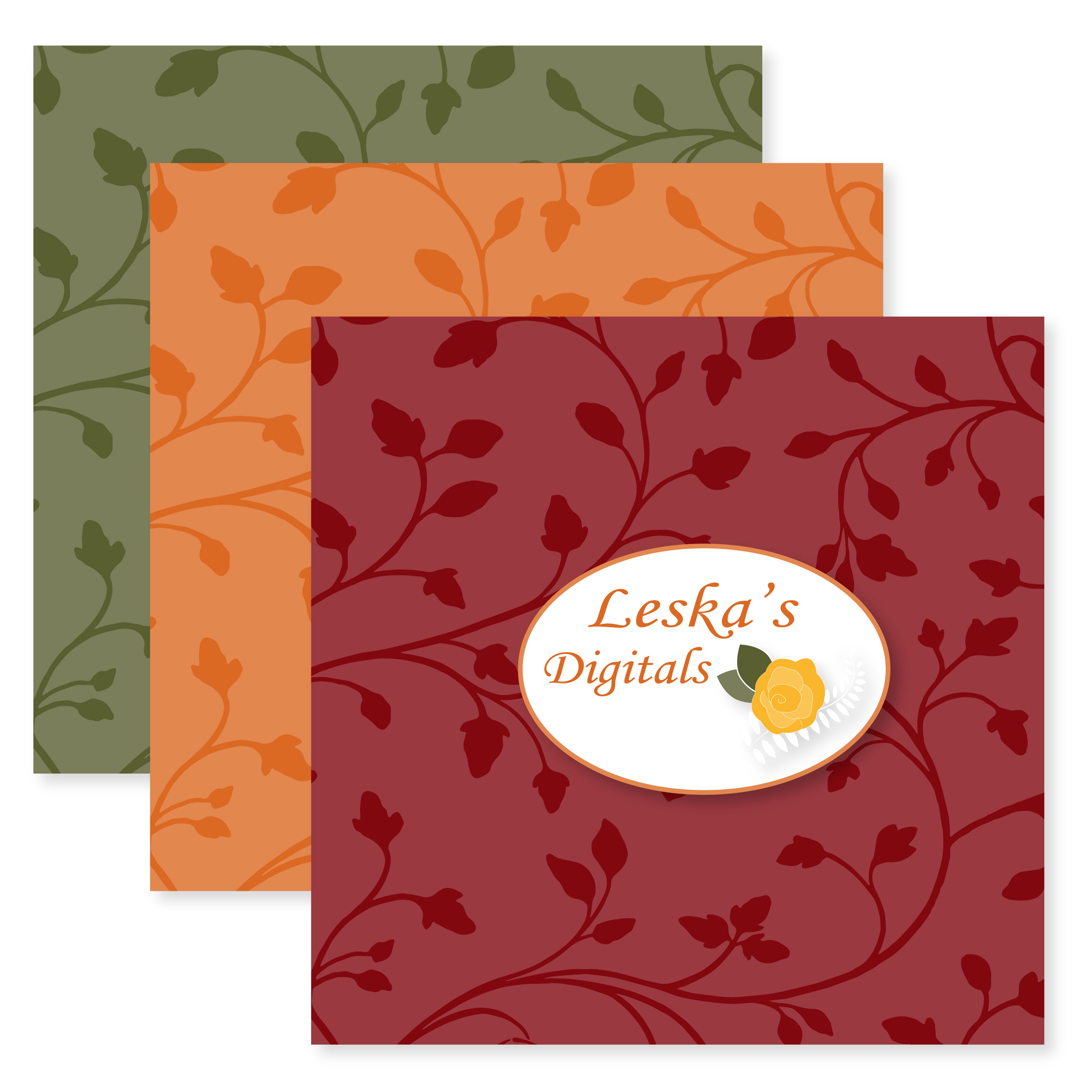 Seamless Patterns - Fall Colors example image 2