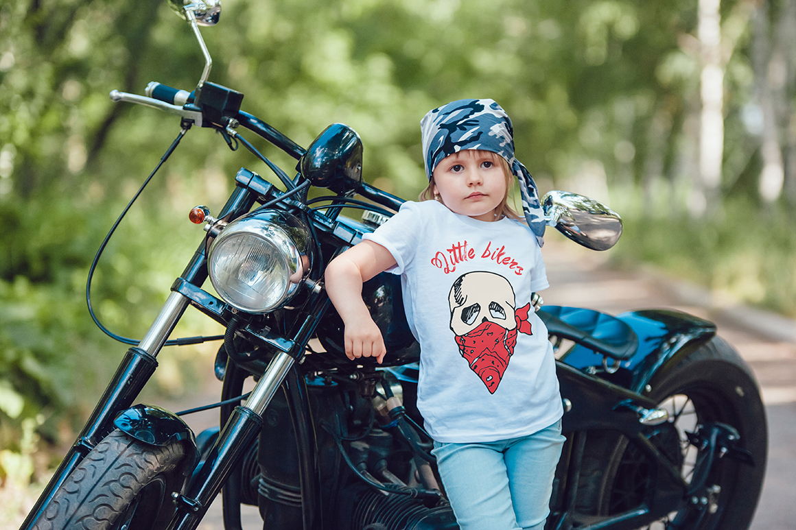 Little Bikers T-Shirt Mock-Up example image 11