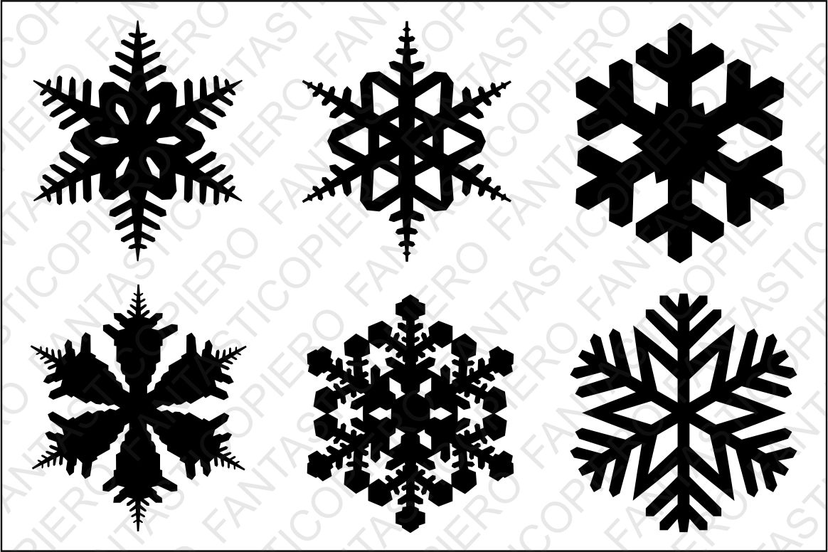 Snowflake SVG files for Silhouette Cameo and Cricut. example image 1