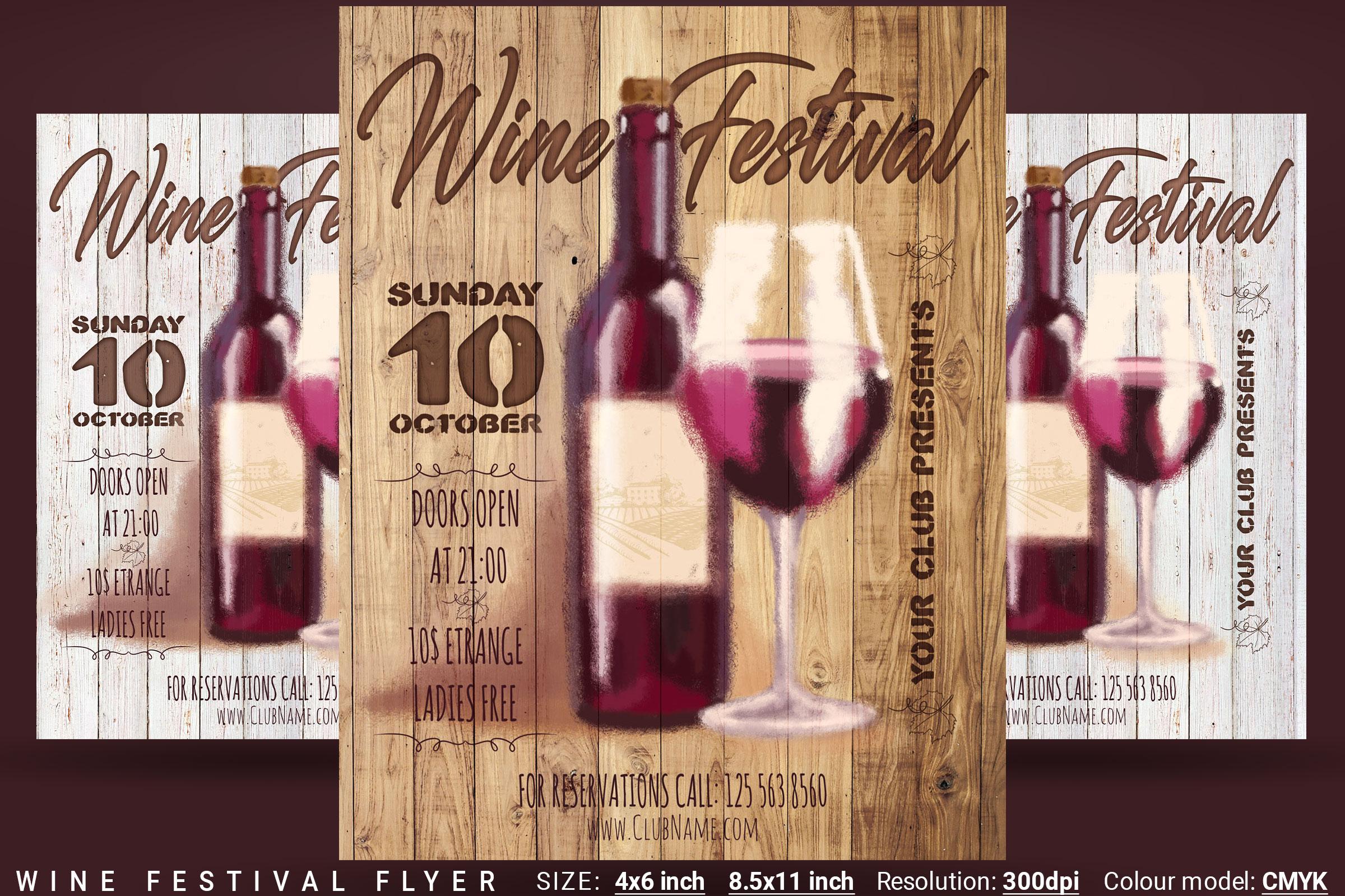 Wine Festival Flyer example image 1