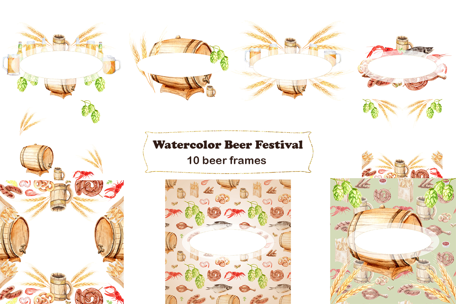 Watercolor Beer Festival example image 3