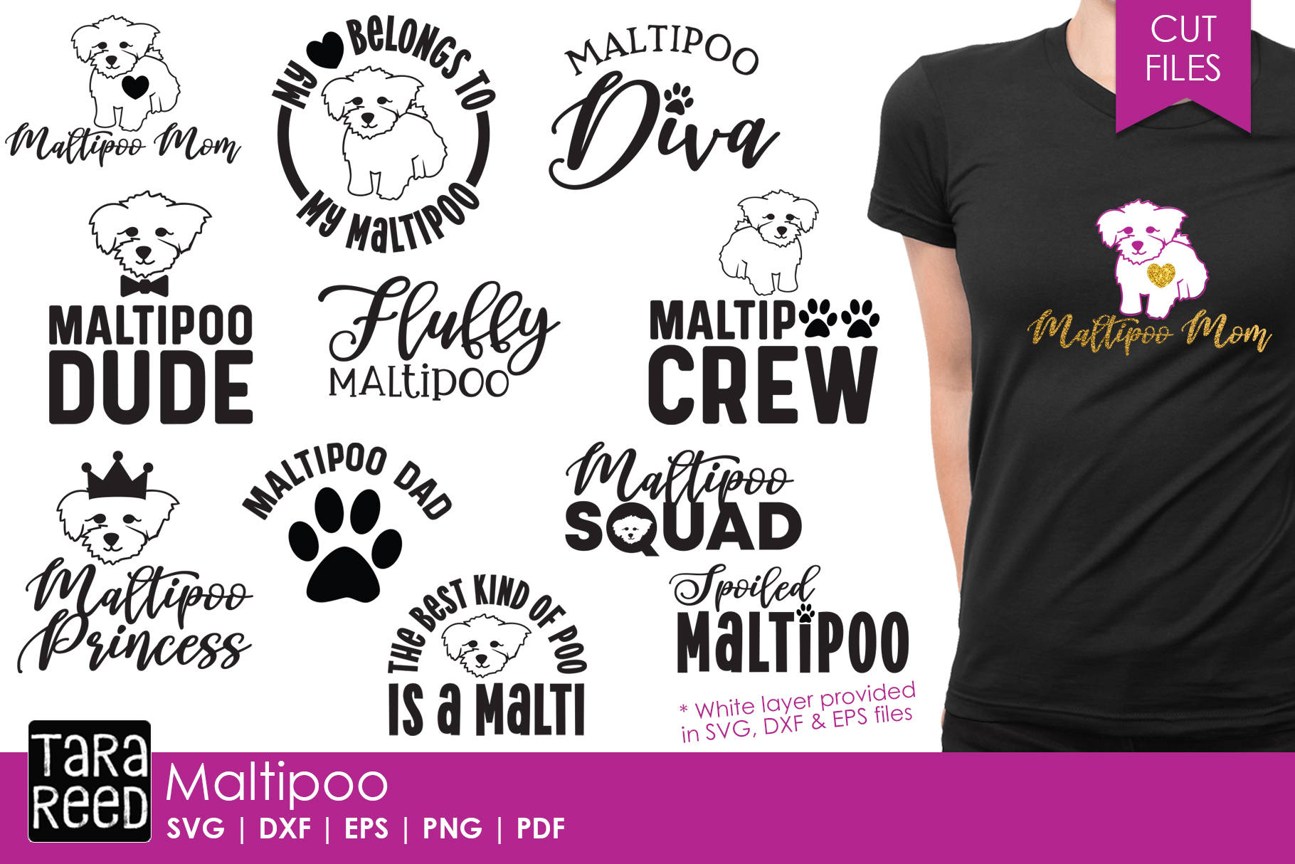 Maltipoo - Dog SVG and Cut Files for Crafters example image 1