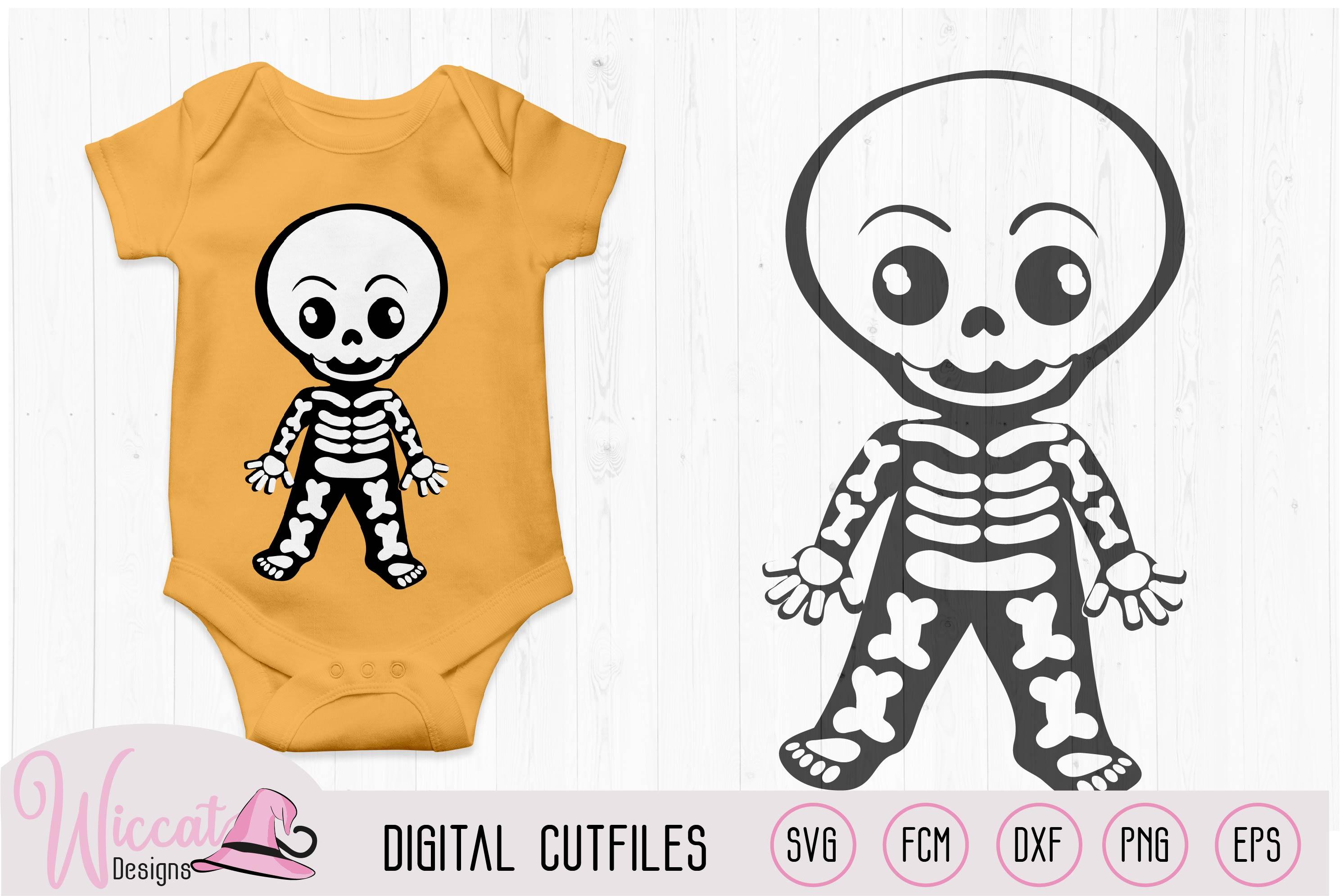 Cute skeleton bundle, boy skeleton, girl skeleton, example image 5