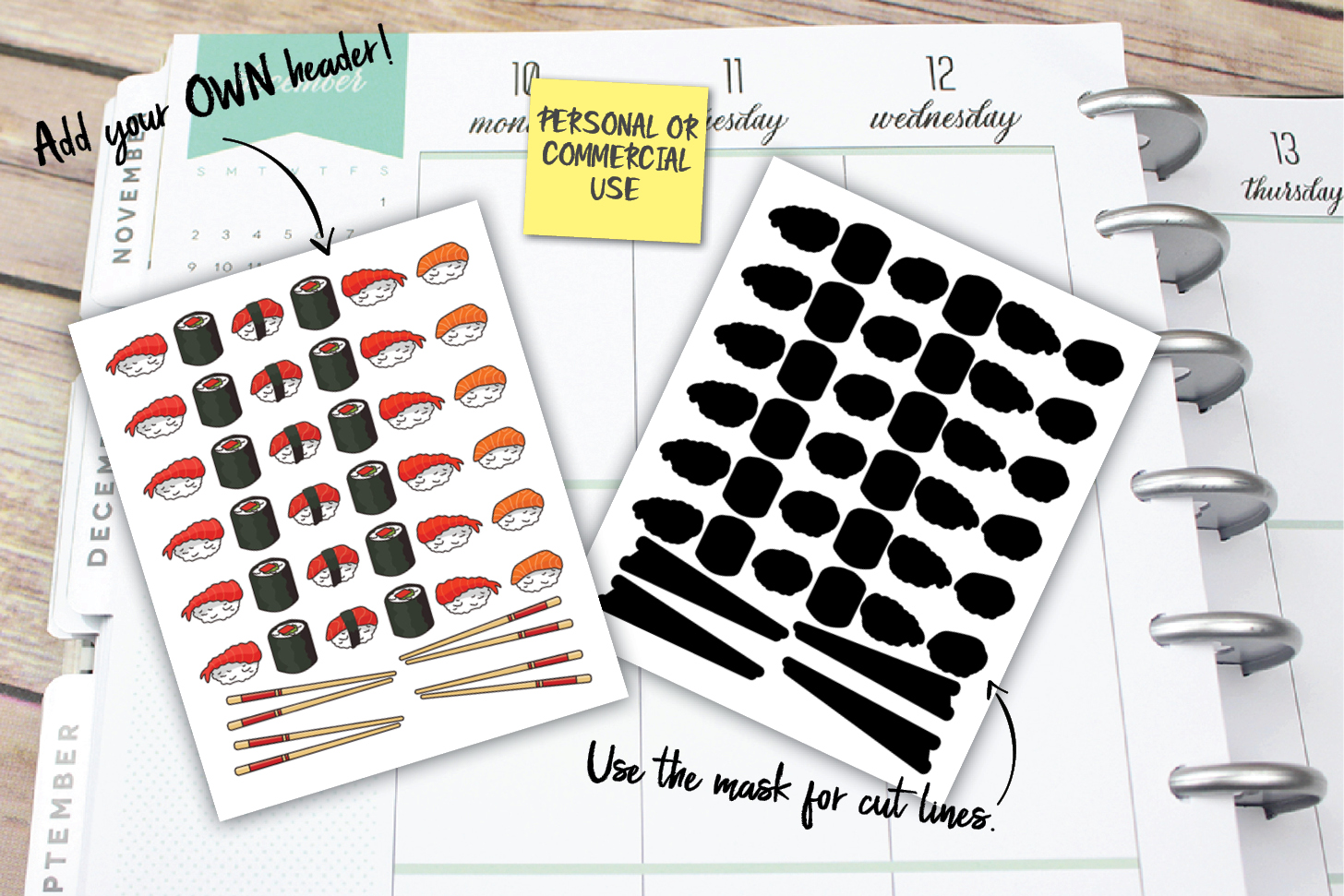 Sushi Planner Stickers example image 1