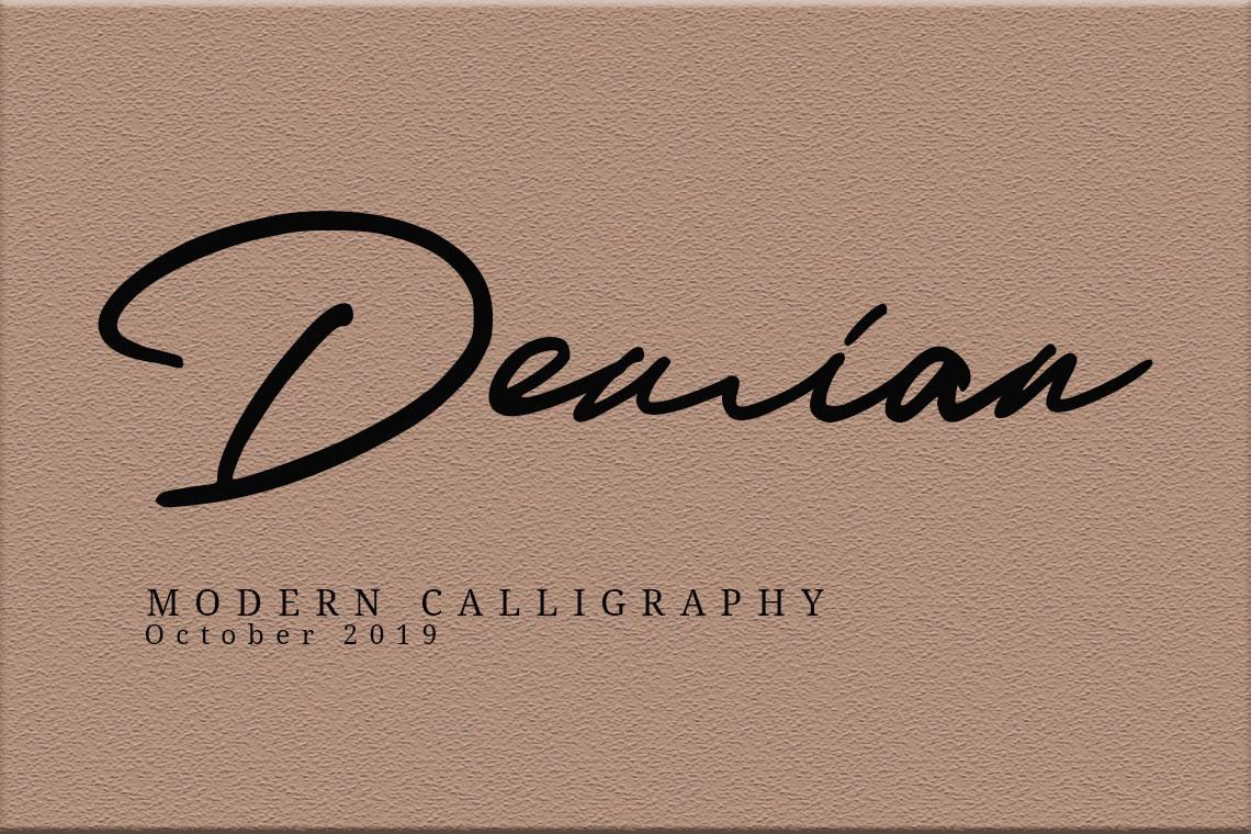 Demian || Modern Script example image 1