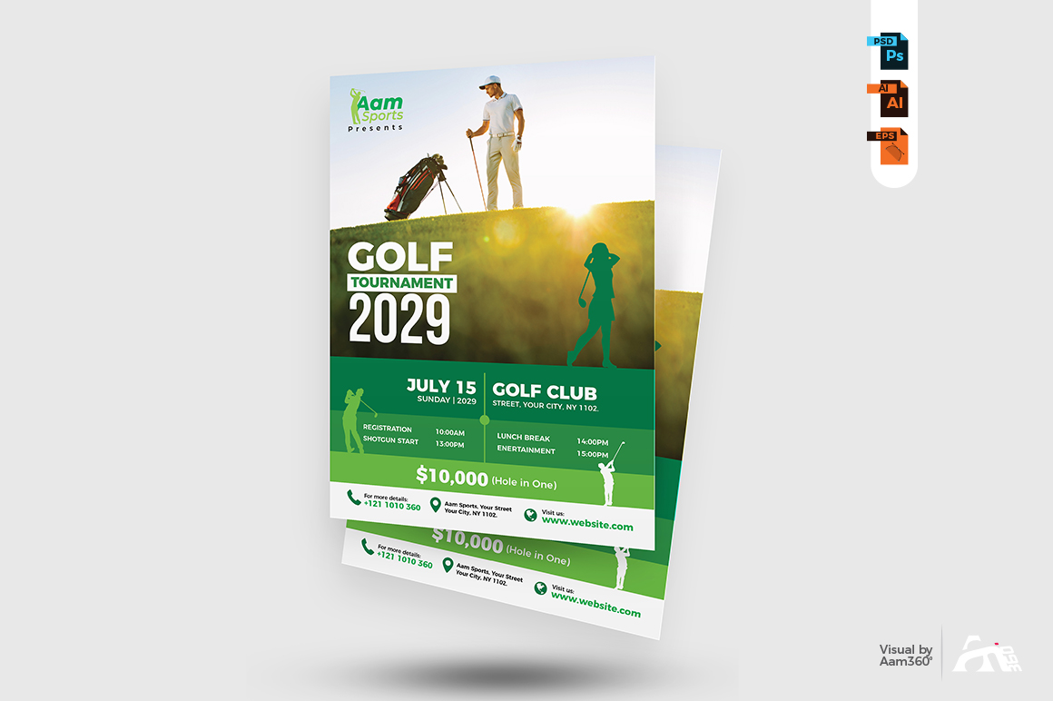 Golf Tournament Flyer example image 2