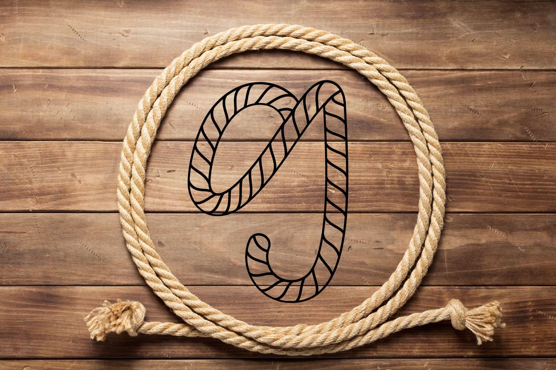 Rope Monogram - A Monogram Letter Trio! example image 5