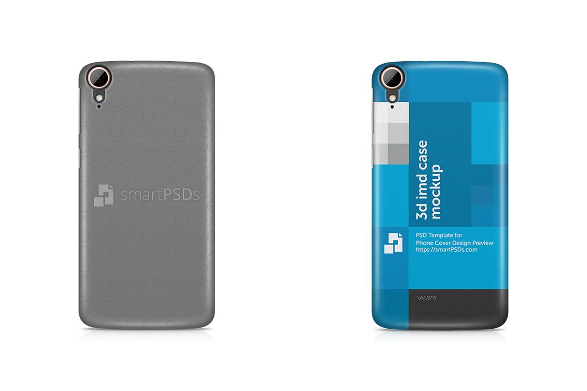 HTC Desire 828 3d IMD Mobile Case Design Mockup 2015 example image 1